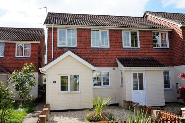 Thumbnail End terrace house for sale in Owls Road, Verwood