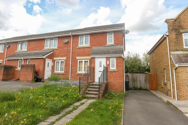 Thumbnail End terrace house for sale in Pen Cerrig Rise, Heolgerrig, Merthyr Tydfil
