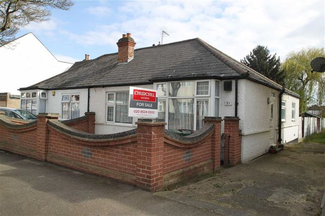 Thumbnail Semi-detached bungalow for sale in Burnham Road, London