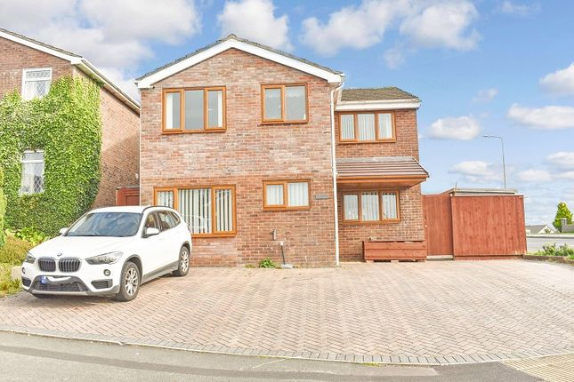 Thumbnail Detached house for sale in The Chase, Brackla, Bridgend .