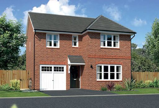 "Thumbnail Detached house for sale in ""Dukeswood"" At Ffordd Eldon, Sychdyn"