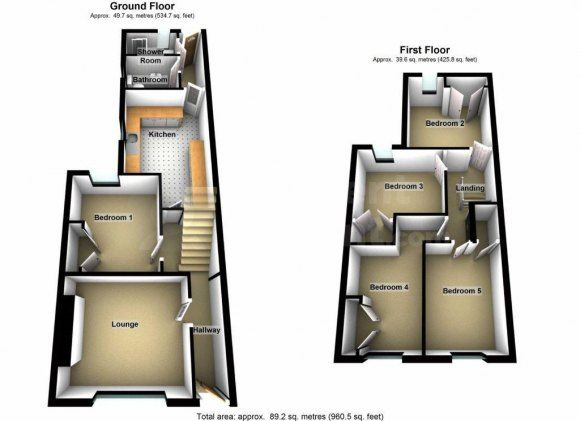 Thumbnail Shared accommodation to rent in Collins Terrace, Pontypridd, Rhondda Cynon Taff