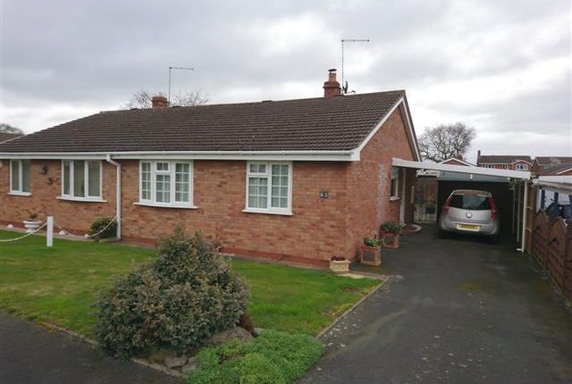 Thumbnail Semi-detached bungalow for sale in Somerset Way, Wem