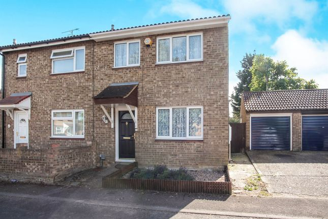 Thumbnail Semi-detached house for sale in Fensome Drive, Houghton Regis, Dunstable