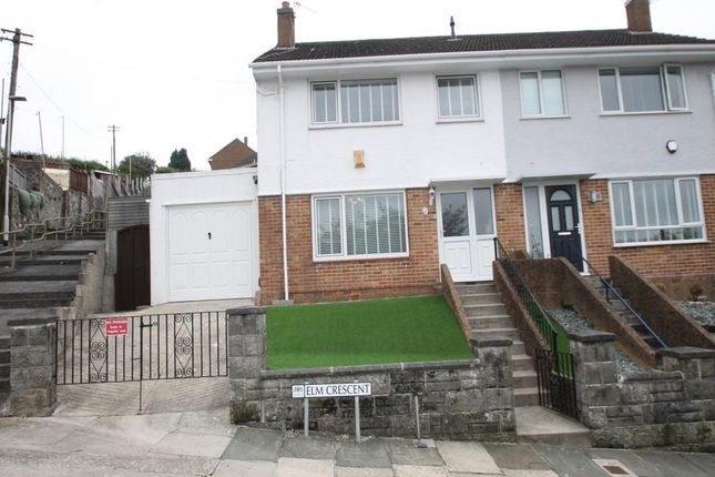 Thumbnail Semi-detached house for sale in Elm Crescent, Plymouth