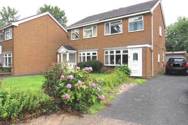 Thumbnail Semi-detached house for sale in Wickham Gardens, Off Prestwood Road, Wednesfield, Wolverhampton