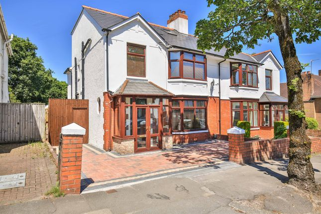 Thumbnail Semi-detached house for sale in Lake Road North, Roath Park, Cardiff
