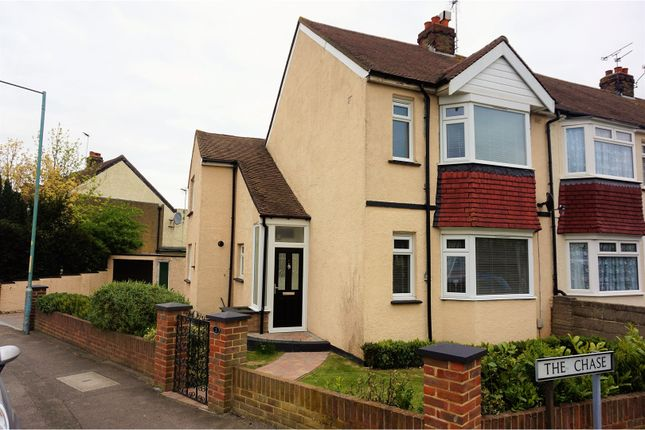 Thumbnail End terrace house for sale in The Chase, Gillingham