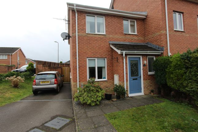 Thumbnail End terrace house for sale in Half Acre Court, Caerphilly