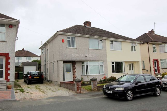 Thumbnail Semi-detached house for sale in Woodford Avenue, Plympton