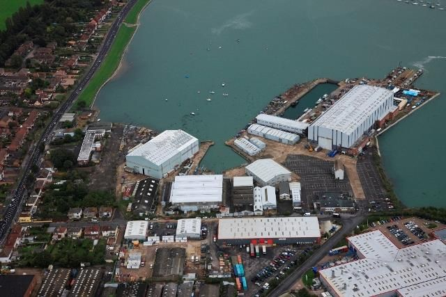 Thumbnail Land to let in Trafalgar Wharf, Open Storage Land, Southampton Road, Portchester, Portsmouth, Hampshire