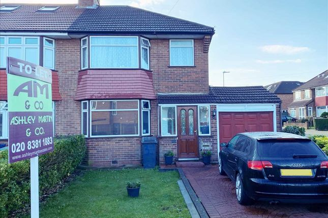 Thumbnail 4 bed semi-detached house to rent in Northolme Gardens, Edgware