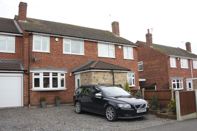 Thumbnail Semi-detached house for sale in Oakfield Avenue, Markfield