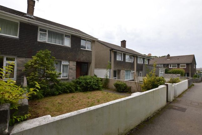 Thumbnail Semi-detached house for sale in Trethew Gardens, Camborne, Cornwall