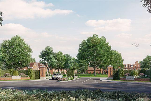 Entrance of Broadoaks Park Road, West Byfleet, Surrey KT14