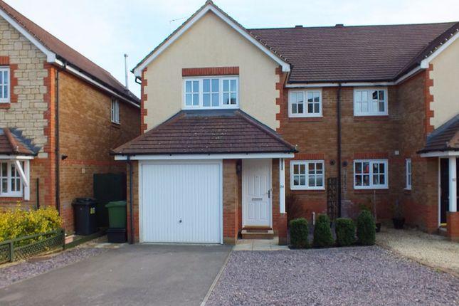 Thumbnail Semi-detached house to rent in Newhurst Park, Hilperton, Trowbridge