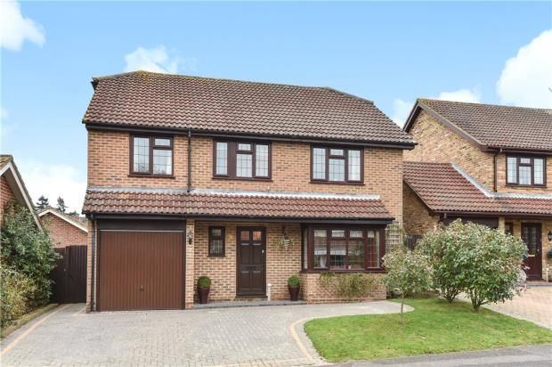 Thumbnail Detached house for sale in Hawkins Grove, Church Crookham, Hampshire