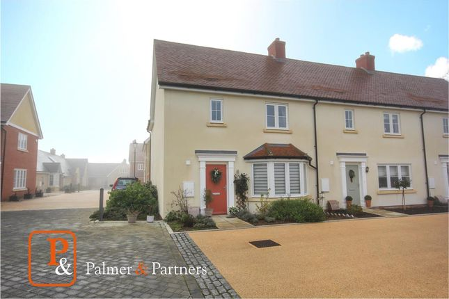 Thumbnail End terrace house for sale in Orchard Brook, Long Melford, Sudbury