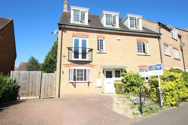 Thumbnail End terrace house to rent in Lady Charlotte Road, Hampton Hargate, Peterborough