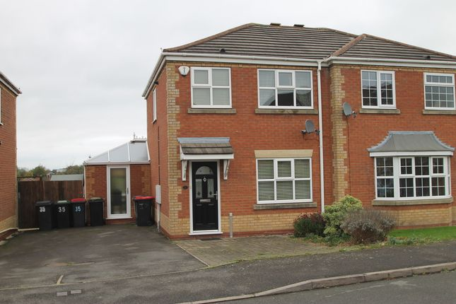 Thumbnail Semi-detached house to rent in Foxwood Road, Birchmoor, Tamworth