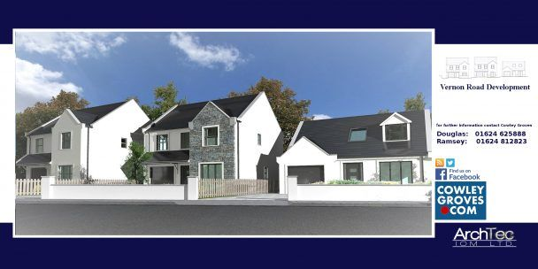 Thumbnail Bungalow for sale in 3, Upper Hillside, Vernon Road, Ramsey