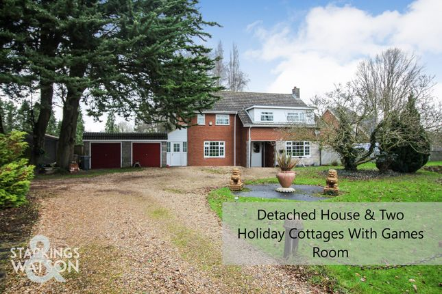 Thumbnail Detached house for sale in Station Road, Forncett St. Peter, Norwich