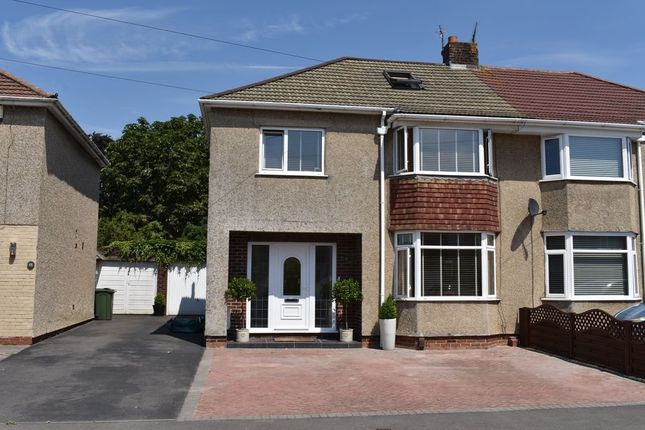 Thumbnail Semi-detached house for sale in Parkside Avenue, Winterbourne, Bristol