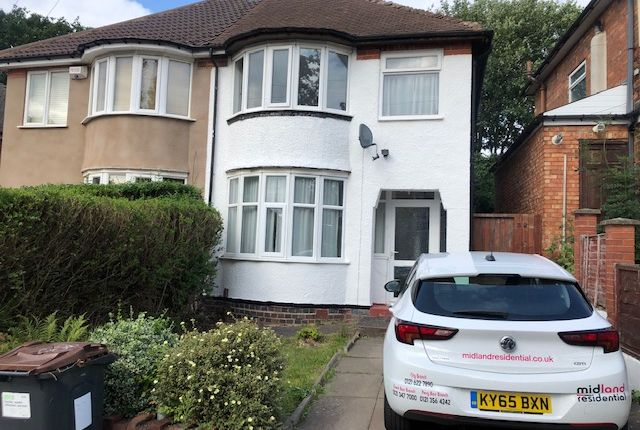Thumbnail Semi-detached house to rent in Durley Dean Road, Birmingham