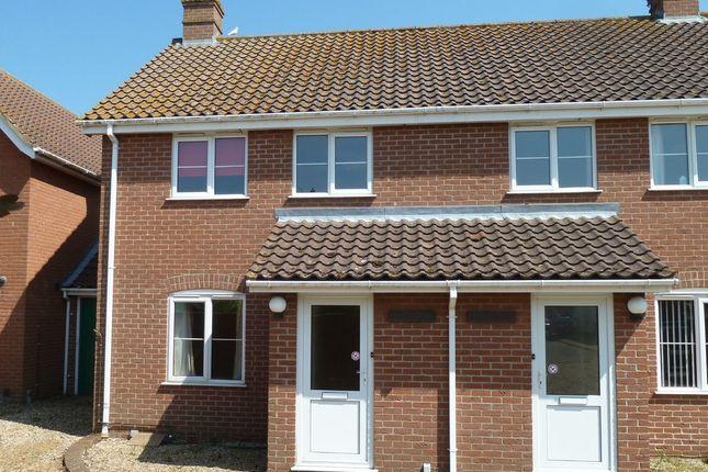 Thumbnail Semi-detached house to rent in Rose Lane, Diss, Norfolk