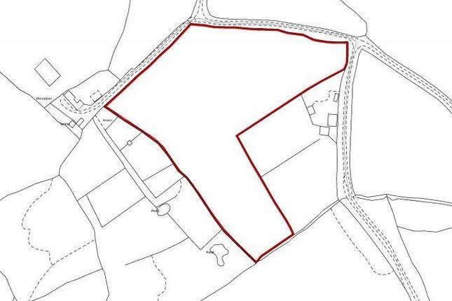 Land Plan of Capel Dewi, Carmarthen, Carmarthenshire SA32