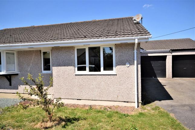 Thumbnail Semi-detached bungalow to rent in Edwards Road, St. Giles-On-The-Heath, Launceston, Devon