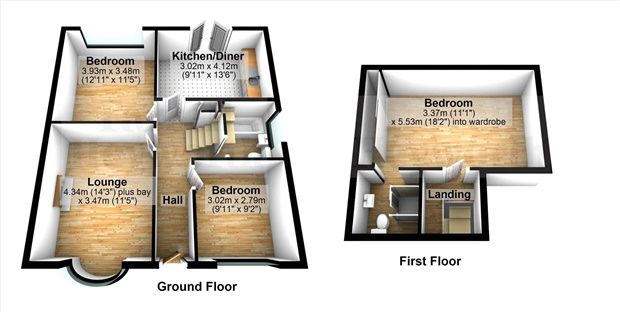Floor Plan of Lister Grove, Morecambe LA3