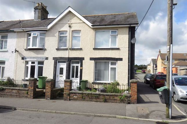Thumbnail End terrace house for sale in Commercial Street, Beddau, Pontypridd