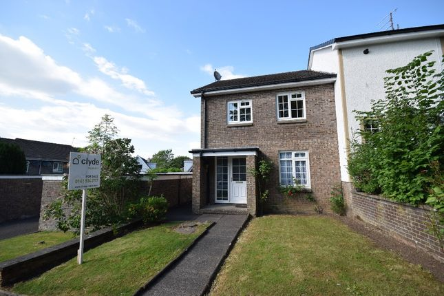 Thumbnail End terrace house for sale in Woodyett Park, Clarkston, Glasgow