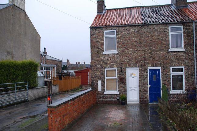 Thumbnail End terrace house to rent in Langton Road, Norton, Malton
