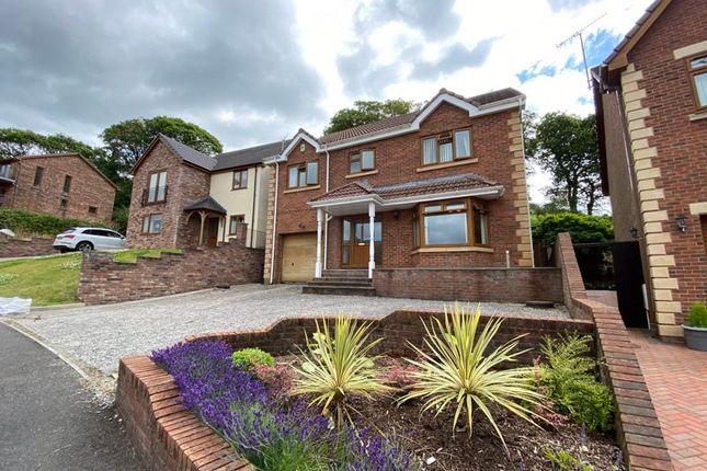 Thumbnail Detached house for sale in The Oaks, Cimla, Neath