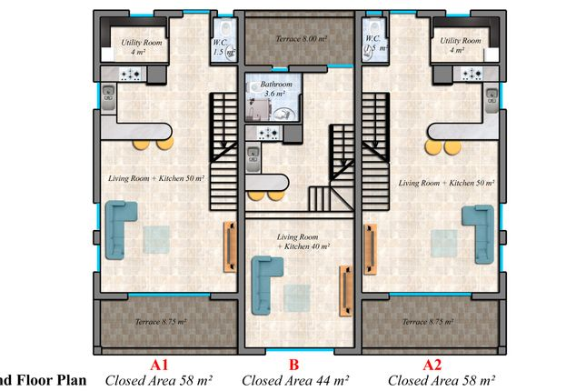 Special Offer-The Residence Bahceli 2 Bedroom Townhouses Image #5
