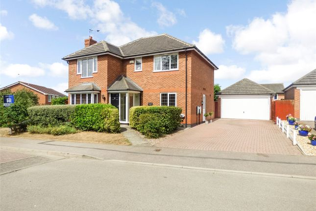 Thumbnail Detached house for sale in Geveze Way, Broughton Astley, Leicester, Leicestershire