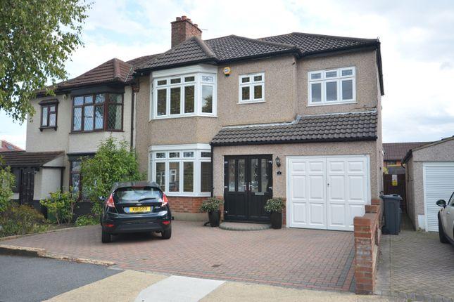 Thumbnail Semi-detached house for sale in Rosslyn Avenue, Harold Wood