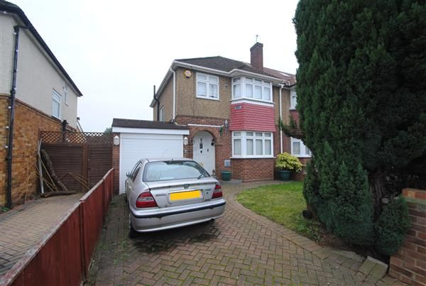 Semi-detached house for sale in Benedict Drive, Bedfont, Feltham