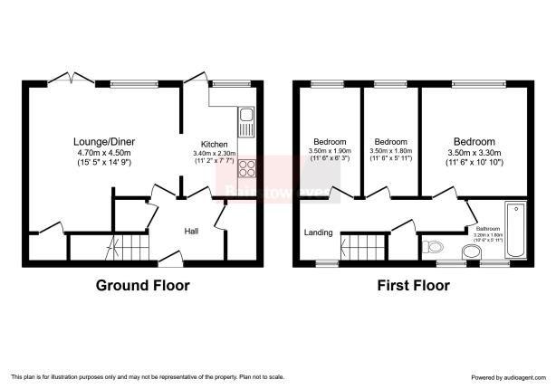 Floorplan of Laindon, Basildon, Essex SS15