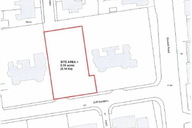 Thumbnail Land for sale in Residential Building Plot, Cliff Gardens, Scunthorpe