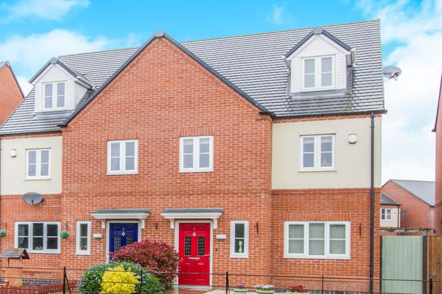 Thumbnail Semi-detached house for sale in Lockley Gardens, Sapcote, Leicester