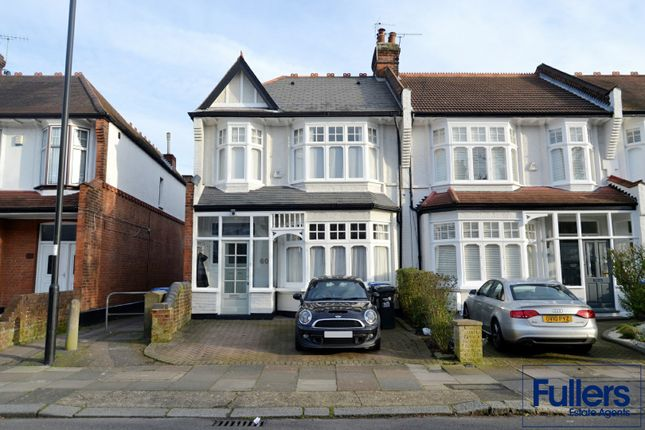 Thumbnail End terrace house to rent in Caversham Avenue, Palmers Green