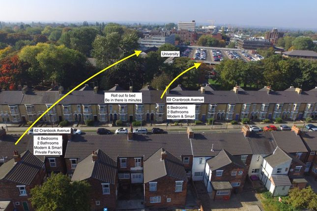 Thumbnail Studio to rent in Cranbrook Avenue, Hull