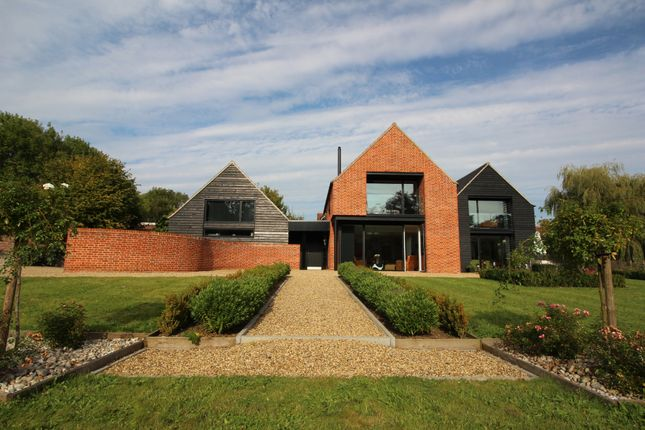 Thumbnail Detached house for sale in Wymondham Road, Crownthorpe, Wicklewood, Wymondham