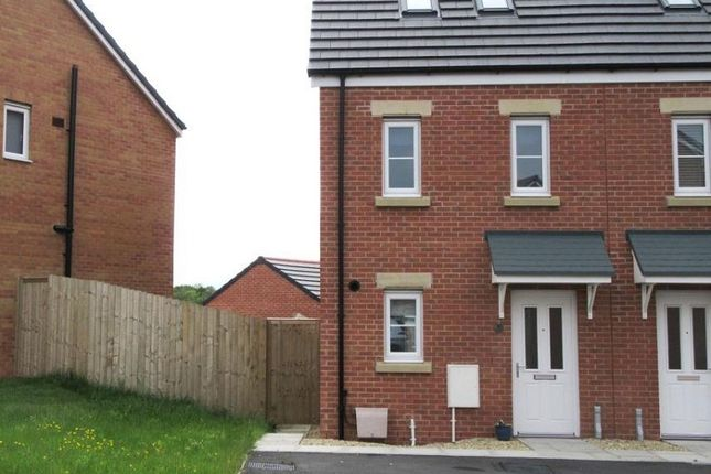Thumbnail Semi-detached house to rent in Heol Cae Pownd, Cefneithin, Llanelli, Carmarthenshire.