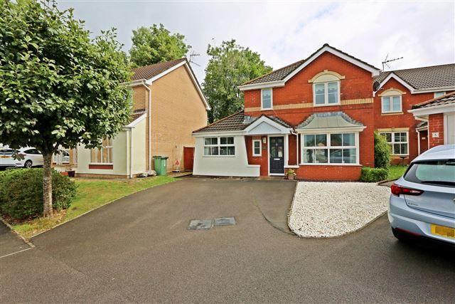Thumbnail Detached house for sale in Llys Fach, Church Village, Pontypridd