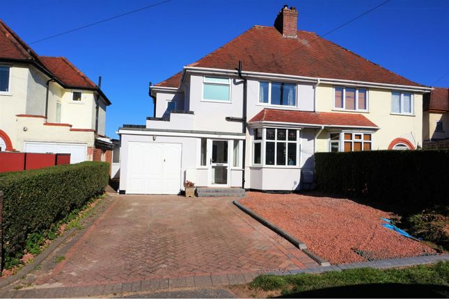 Thumbnail Semi-detached house for sale in Rednal Hill Lane, Birmingham
