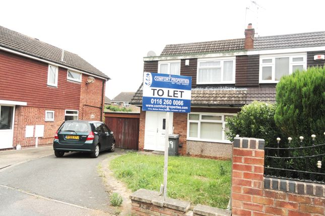 Thumbnail Semi-detached house to rent in Uttoxeter Close, Leicester